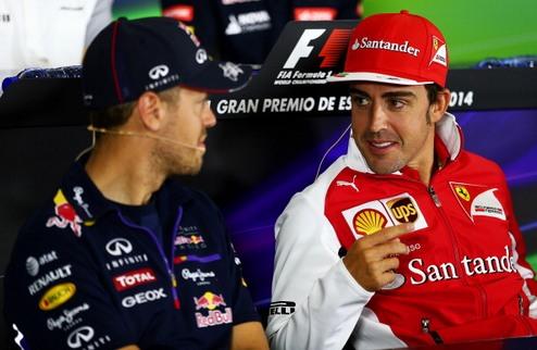 Формула-1. Феттель опроверг размен команд с Алонсо