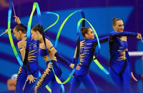 Европейские игры. Украинские гимнастки — вторые в упражнениях с лентой