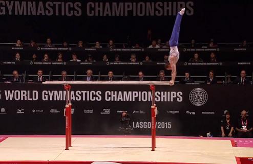 Спортивная гимнастика. Чемпионат мира. Верняев второй на брусьях