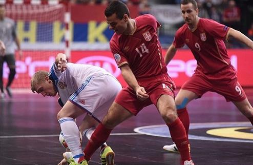Футзал. Евро 2016. Россия в овертайме обыграла Сербию