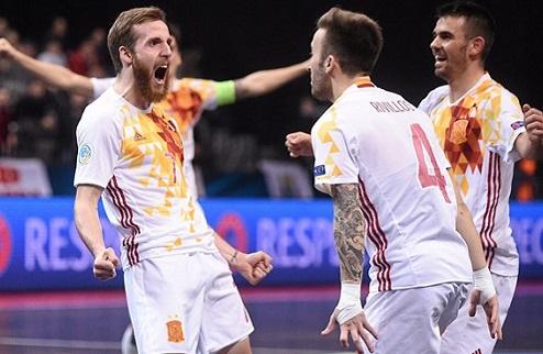 Футзал. Евро 2016. Испания громит Россию в финале