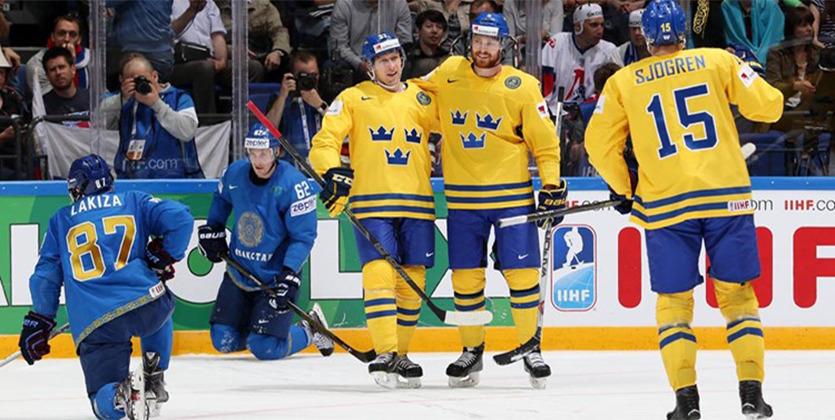 ЧМ-2016. Швеция на классе обыгрывает Казахстан
