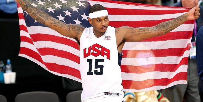 НаОлимпийских играх баскетболисты США одержали внушительную победу над Китаем