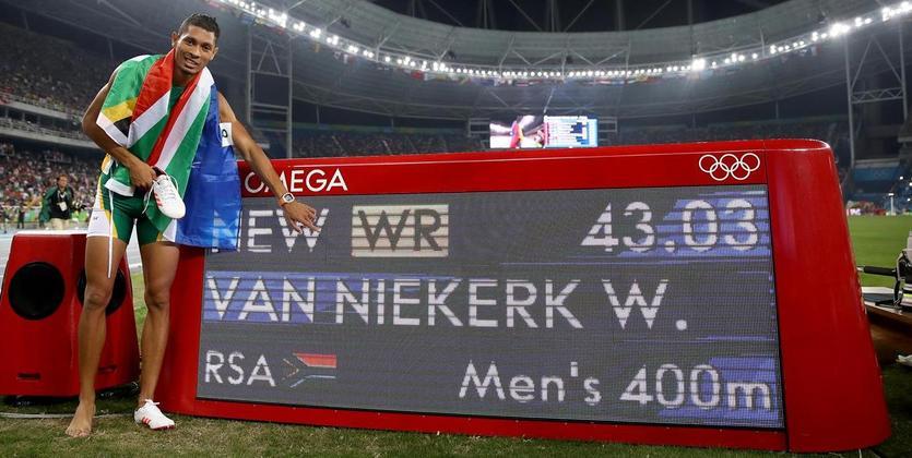 Уэйд ван Никерк установил мировой рекорд вбеге на400 метров