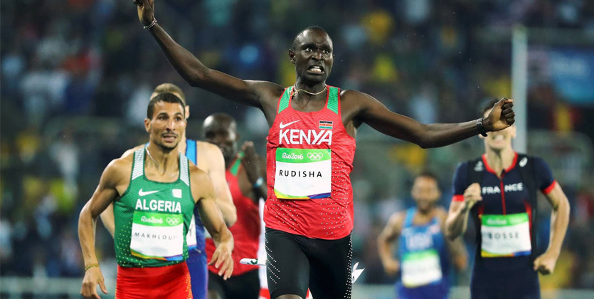 Кенийский легкоатлет Дэвид Рудиша завоевал золотоОИ вбеге на800м