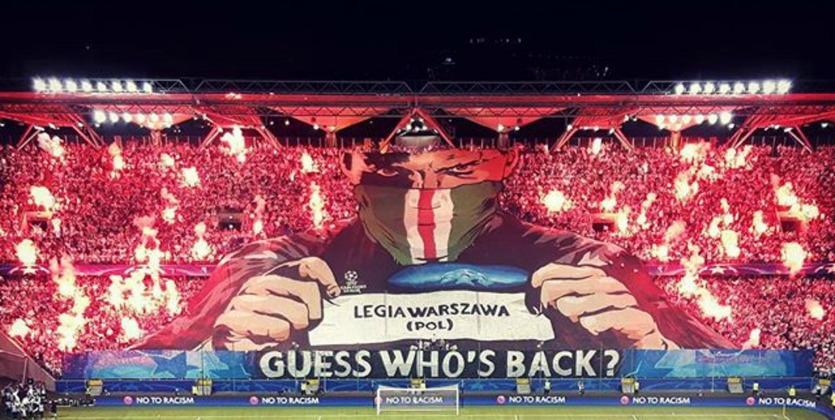 Захватывающее предматчевое представление от фанатов Легии