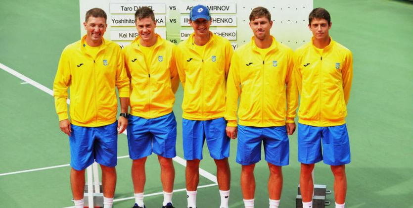 Украинские теннисисты проиграли Японии вматче плей-офф Мировой группы Кубка Дэвиса