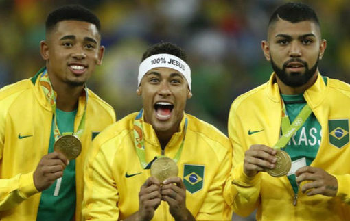 Неймар увековечил победу на Олимпиаде новым тату