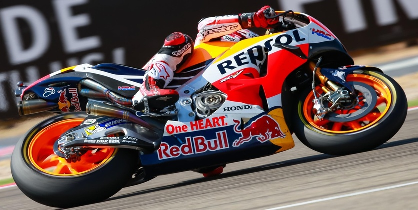 MotoGP. Гран-при Арагона. Маркес побеждает, Лоренсо и Росси на подиуме