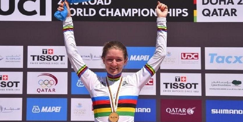 Свинкельс стала чемпионкой мира в гонке с раздельным стартом