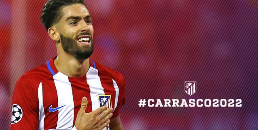 «Атлетико» продлил договор сКарраско до 2022-ого года