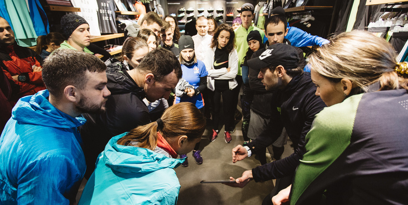 Подбери свою обувь для бега вместе с Nike