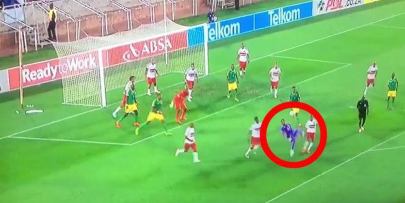 ВЮАР вратарь забил ударом через себя испас команду отпоражения