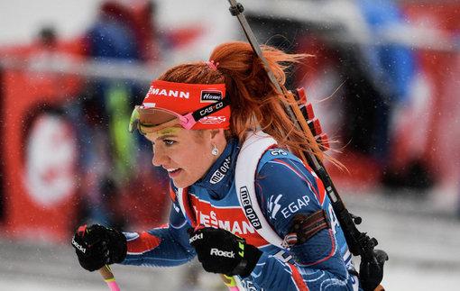 Биатлон. Эстерсунд. Коукалова побеждает в гонке преследования, украинка Джима — 9-я