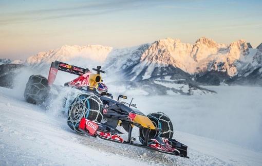 Ферстаппен покоряет заснеженную трассу в Австрии