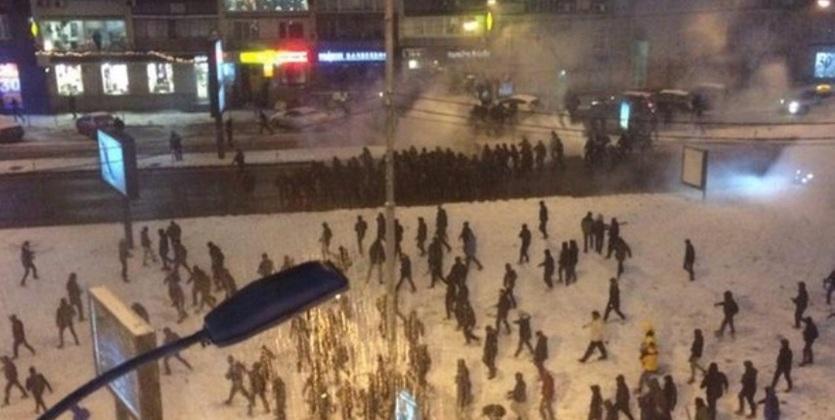 Киевские фанаты устроили погромы вцентре города перед игрой стурецким «Бешикташем»