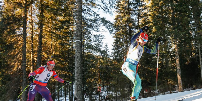 Русские биатлонисты— вторые вэстафете