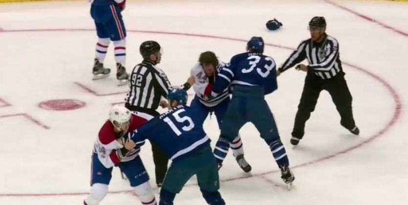 НХЛ. Ледовое побоище в матче Торонто - Монреаль