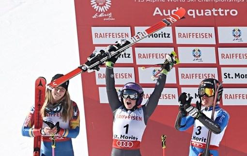 Французская горнолыжница Ворле стала чемпионкой мира в гигантском слаломе