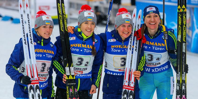 Украина – седьмая в медальном зачете чемпионата мира по биатлону
