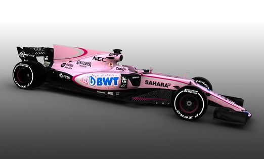 Ливрея болидов «Форс Индия» будет розовой врамках партнёрства сBWT