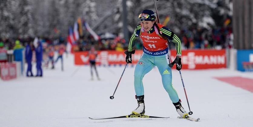 Финская биатлонистка Лаукканен выиграла спринт наэтапеКМ побиатлону вХольменколлене