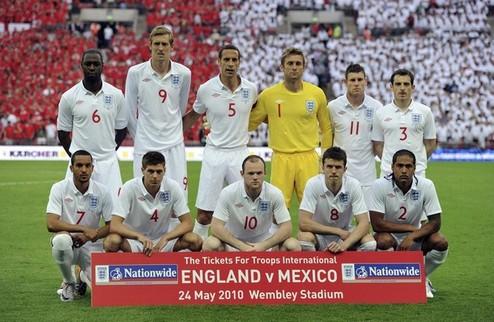 Представление сборной Англии
